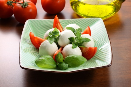 Mozzarella and tomatoes photo