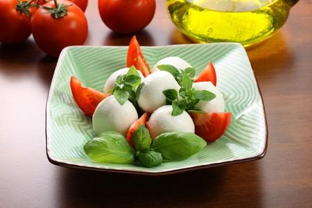 Mozzarella and tomatoes photo