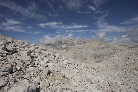 martino: View on Pale di S Martino group from mount Fradusta - Dolomites - Italy