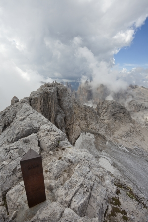 martino: View on Pale di S Martino group from the top mount Fradusta - 2939m  Dolomites - Italy