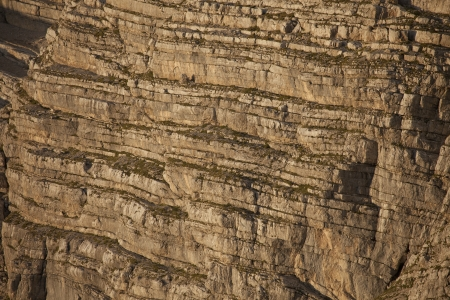 stratification: Stratifications in the northern side of Mount Antelao Stock Photo