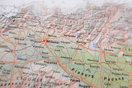 Milan map (Italy)