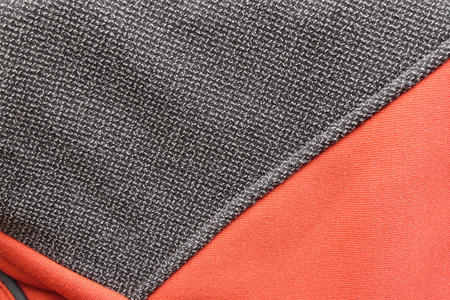 kevlar: Kevlar insert on technical mountain jacket in microfleece