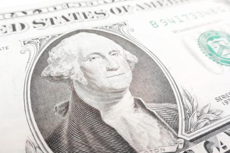 george washington: Detalles de un billete de un d�lar, George Washington en primer plano