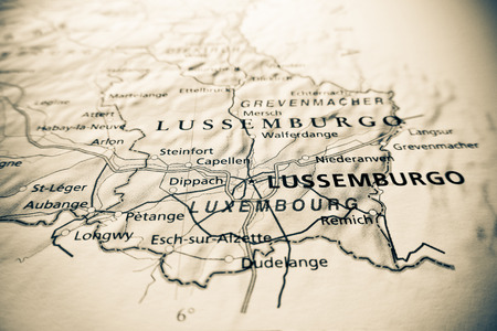 luxembourg: Luxembourg map