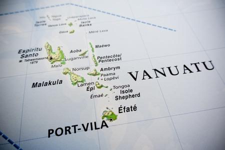 Vanuatu islands map