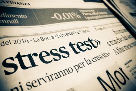 stress test by an Italian financial newspaper