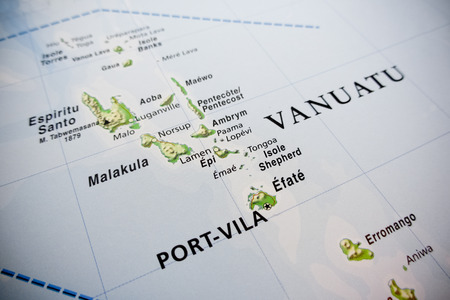 vanuatu: Vanuatu islands map