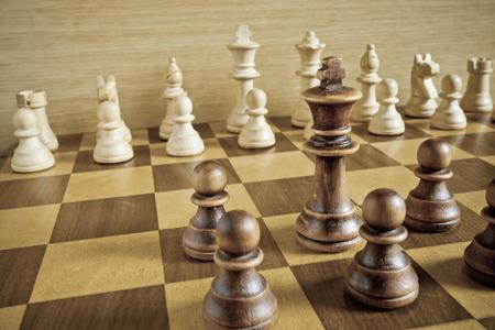 chess set Standard-Bild