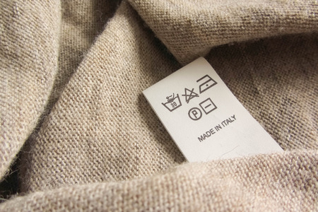 made in italy: made in italy fashion colored wool Stock Photo