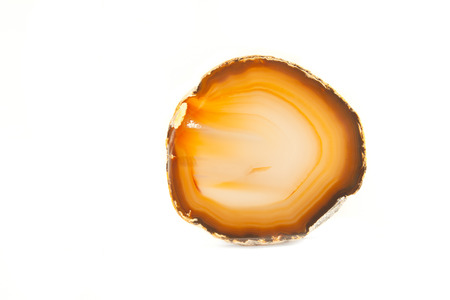 geode: Section of a white and orange geode Stock Photo