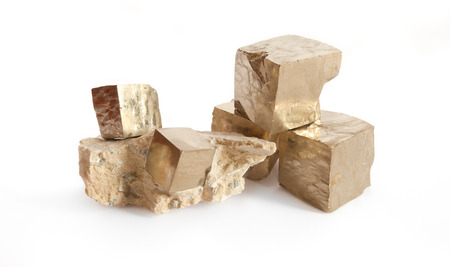 pyrite: pyrite in white background
