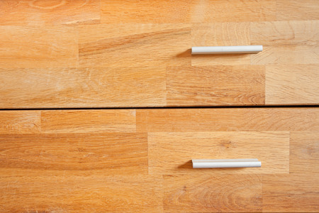 drawers: two wooden drawers Stock Photo