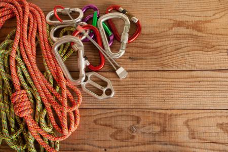 Mountain gear for climbing Banco de Imagens