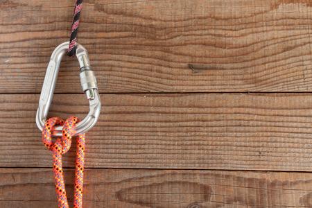 Mountain gear for climbing Standard-Bild