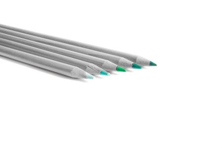 inventiveness: colored pencils in white background