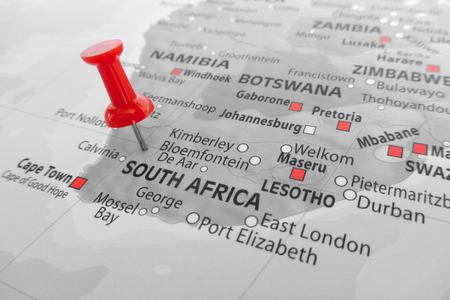 Marcatore rosso sopra Sudafrica Archivio Fotografico - 39622701