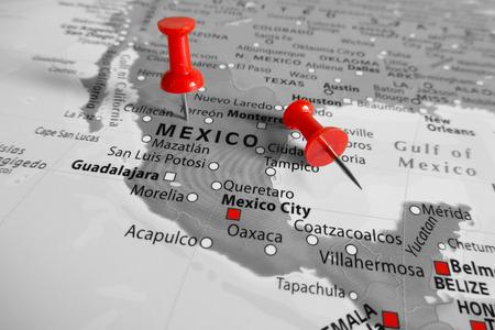 rotulador: Marcador rojo sobre México