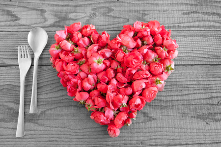 shyness: Eating in love Stock Photo