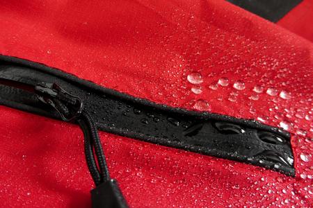 waterproof technology for mountain clothes Standard-Bild