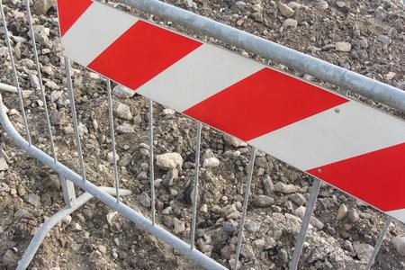 delimitation: barrier inside a construction site