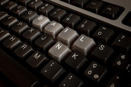 Bail-in a écrit avec la clé du clavier Banque d'images