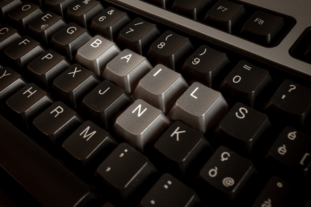 bail: Bail-in wrote with keyboard key