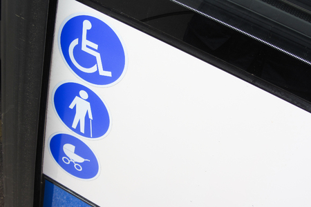 enabled: enabled bus for transport of disabled and aged people