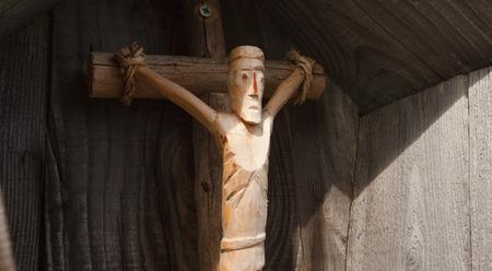 kruzifix: traditionellen Holz scupture für ein Kruzifix