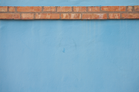 Burano: detail from an external blue wall in Burano island, Venice Stock Photo