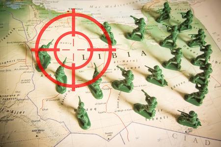 rebels: Rebels as invaders on Libya territory Stock Photo
