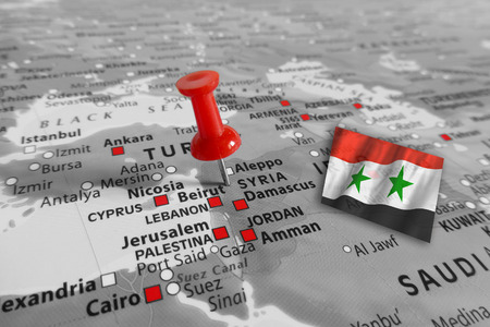 Syria: Red marker over Syria