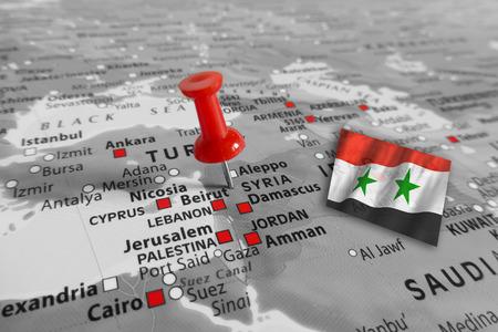 holydays: Red marker over Syria