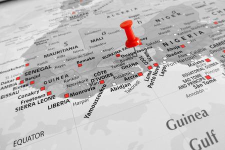 pandemic: Red marker over Togo