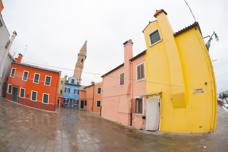 Burano: wide view from the Burano island, Venice