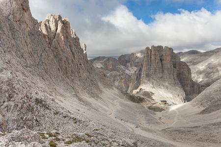 vajolet: Mountain scenes from the Catinaccio area, Dolomites Stock Photo
