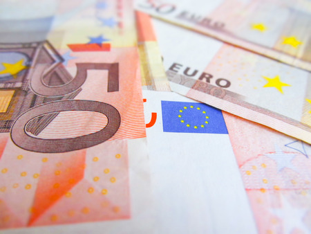 fifty euro banknote: focus on fifty euro banknote
