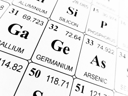 Germanium on the periodic table of the elements Banco de Imagens