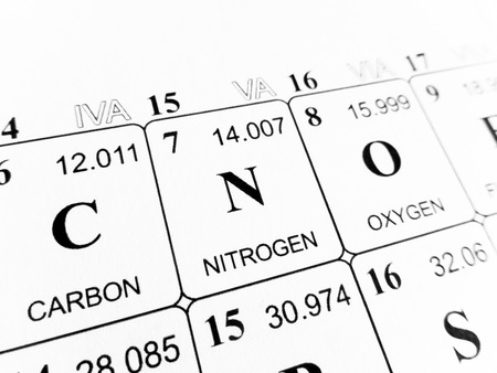 Nitrogen On The Periodic Table Of The Elements Stock Photo Picture