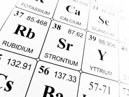 strontium: Strontium on the periodic table of the elements