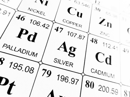 Silver On The Periodic Table Of The Elements Stock Photo Picture