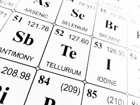 Tellurium On The Periodic Table Of The Elements Stock Photo Picture