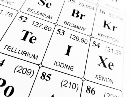 Iodine On The Periodic Table Of The Elements Stock Photo Picture