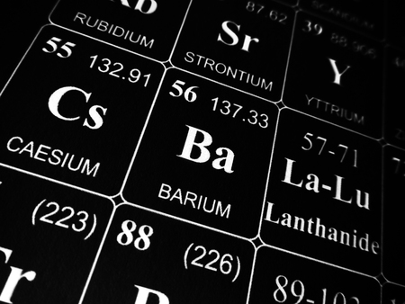 Barium on the periodic table of the elements