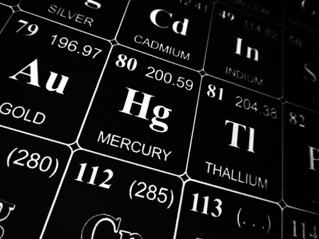 Mercury on the periodic table of the elements