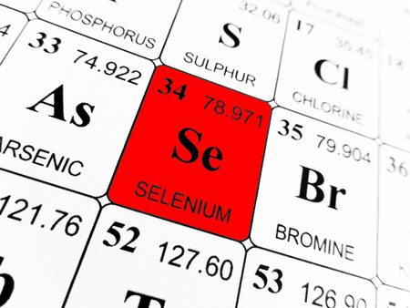 Selenium on the periodic table of the elements Фото со стока