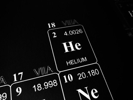 Helium on the periodic table of the elements Archivio Fotografico