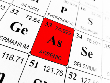 Arsenic on the periodic table of the elements 版權商用圖片