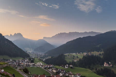 the towns of Santa Cristina e Selva in Val Gardena