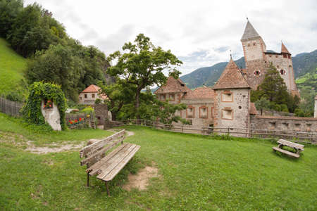 VAL ISARCO, ITALY - JULY 27, 2017: Castel Trostburg it is one of the largest fortified complexes in South Tyrol. The history of the fortress dates back to the XII century Editorial